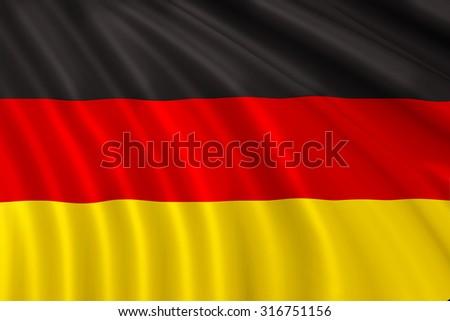 Fabric Flag of Germany - stock photo