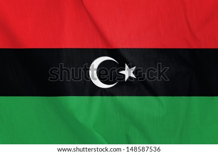 Fabric Flag of Libya