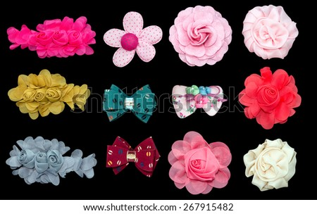 Fabric flower - stock photo