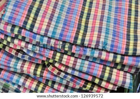 Fabric fold - stock photo