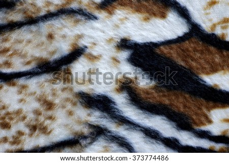 fabric pattern tiger pattern for background and texture.
