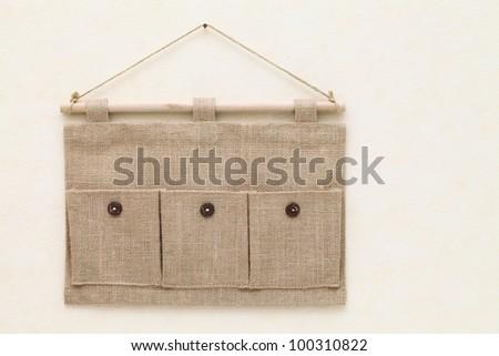 Fabric pocket - stock photo