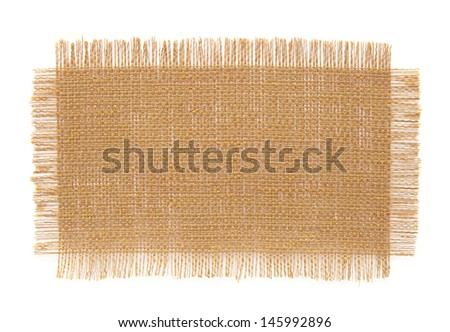 fabric samples isolated on white background - stock photo