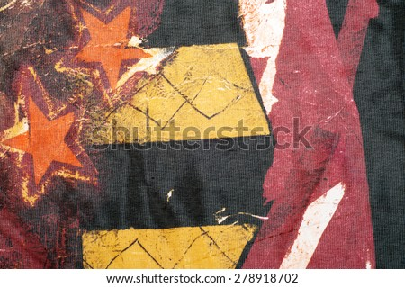 Fabric silk texture, with a pattern of stars. a fine, strong, soft, lustrous fiber produced by silkworms in making cocoons and collected to make thread and fabric. - stock photo