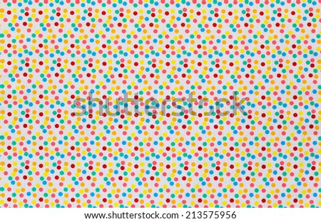 Fabric textile with Tiny Polka Dots Background