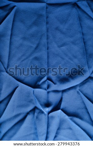 Fabric texture blue. Lining satin. Useful for photons. Photo studio. Abstract wave textile texture or background in blue color. Texture blue satin, silk background - stock photo
