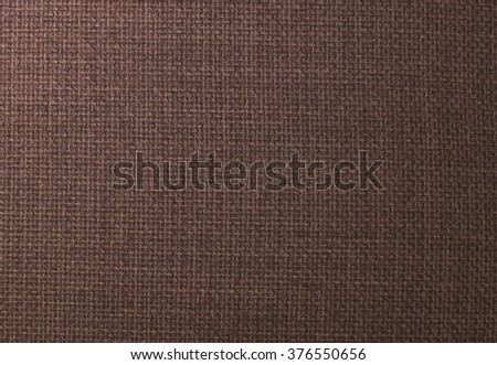 Fabric Texture, Close Up of Dark Brown Fabric Texture Pattern Background.