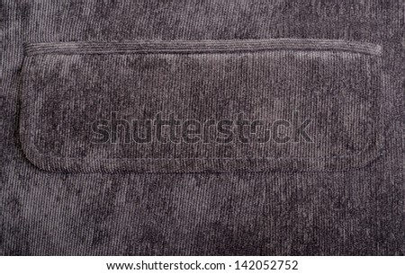 Fabric texture colose-up with linear stiches - stock photo