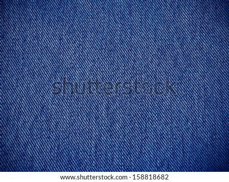 fabric texture jeans for background - stock photo