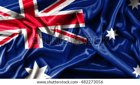 Fabric texture of the flag Australia