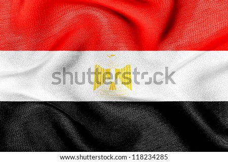 Fabric texture of the flag of Egypt
