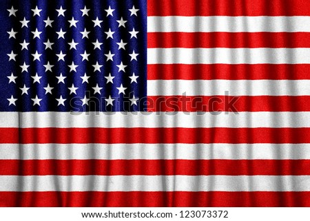 Fabric texture of the flag of USA - stock photo