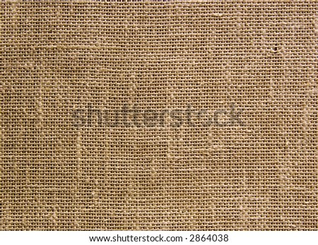 Fabric texture. Rough fabric on a wall. - stock photo