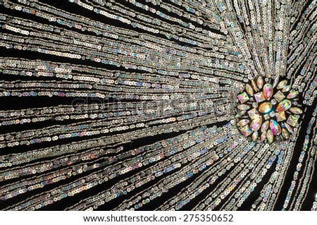 Fabric texture sequined.  jeweled, spangly, beady - stock photo