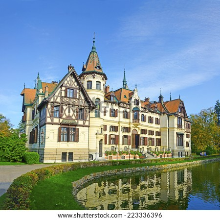 Fabulous castle Lesna, Zlin, Czech republic - stock photo