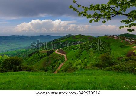Fabulous landscape, Armenia - stock photo