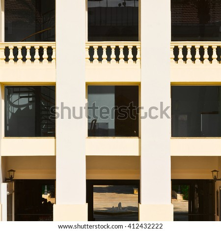 Facade after Reconstruction in Tel Aviv - stock photo