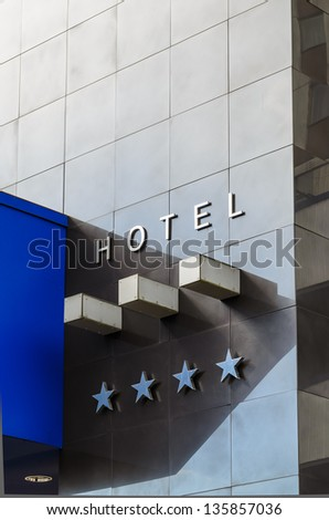 Facade four star hotel. microstock photos - stock photo