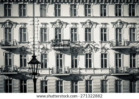 facade of a beautiful old house found in Kreuzberg, Berlin - stock photo