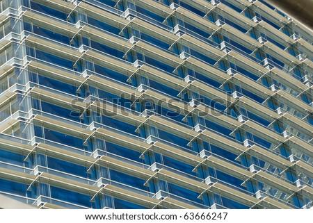 Facade of a high-rise building at CityCenter, Las Vegas, Nevada - stock photo