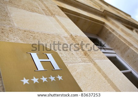 Facade of a luxury 5 stars hotel
