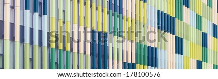 facade of a modern school building can be used as a background