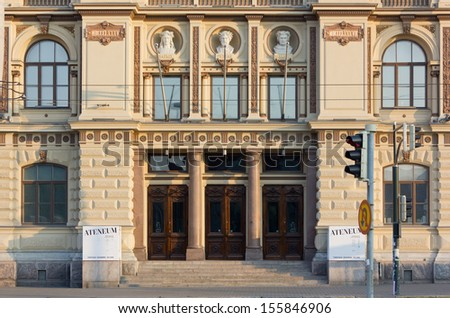 Facade of Ateneum Art Museum in Helsinki