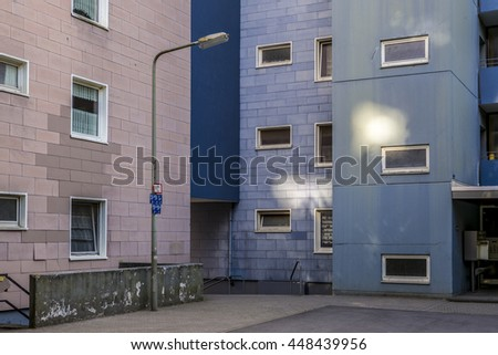 Facade of modern apartment buildings - stock photo