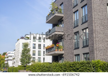 Exceptional Facade Of Modern Apartment Buildings