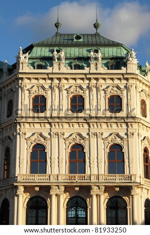 Facade of of Belvedere Palace in Vienna (Austria) - stock photo