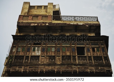 Facade of old Indian building