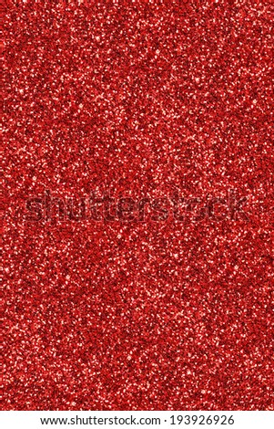 Facade of red glitter dust surface for textural background.  - stock photo