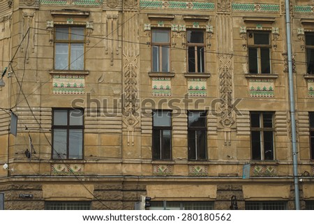 facade of the building in Lviv
