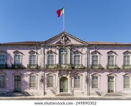 Facade of the Palace in Queluz, Portugal - stock photo