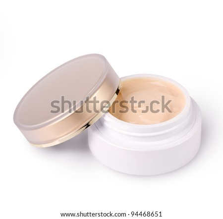 Face cream moisturizer on white - stock photo