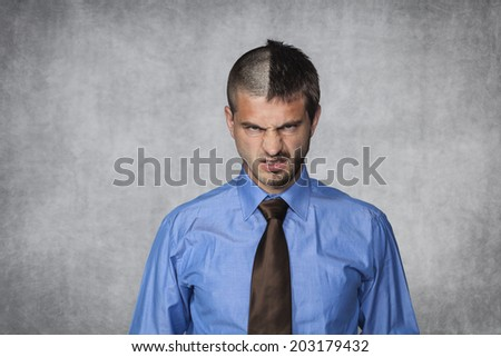 face expression - stock photo