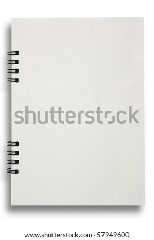 Face notebook for background and text - stock photo