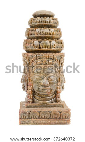 Face of Bayon castle in Angkor Thom,Cambodia,Khmer art and sculpture from Angkor Wat.  - stock photo