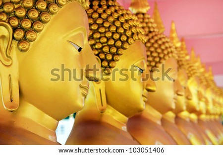face of Buddha. - stock photo