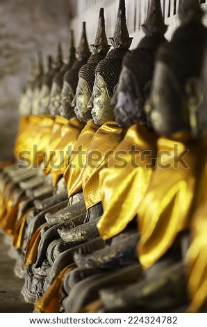Face of Buddha in Lao style Traditional - stock photo