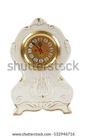 Face of clock. Isolated on white.