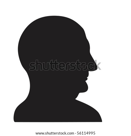 Face of elderly man in profile