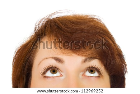 Face of young woman - stock photo