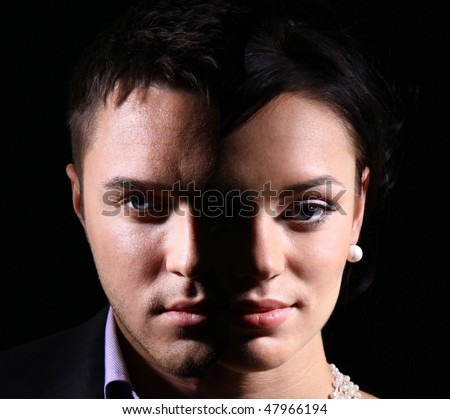face off - stock photo