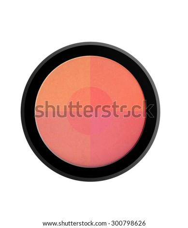 face powder blush isolated on white background - stock photo