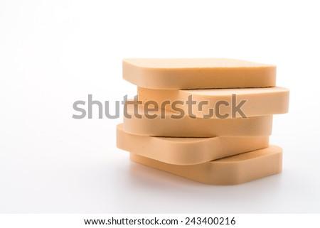 Face sponge powder isolated on white - stock photo