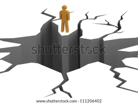 Face the cliff - stock photo