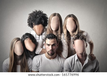 Faceless - stock photo