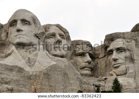 faces of Rushmore - stock photo
