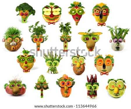 Faces together - stock photo